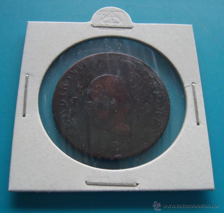 MONEDA DE COBRE 8 MARAVEDIS 1820 (Numismática - España Modernas y Contemporáneas - De Isabel II (1.834) a Alfonso XIII (1.931))
