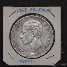 Monedas de España: MONEDA DE PLATA DE 5 PESETAS DE ALFONSO XII- EM.M. 1879*79. Lote 45707266