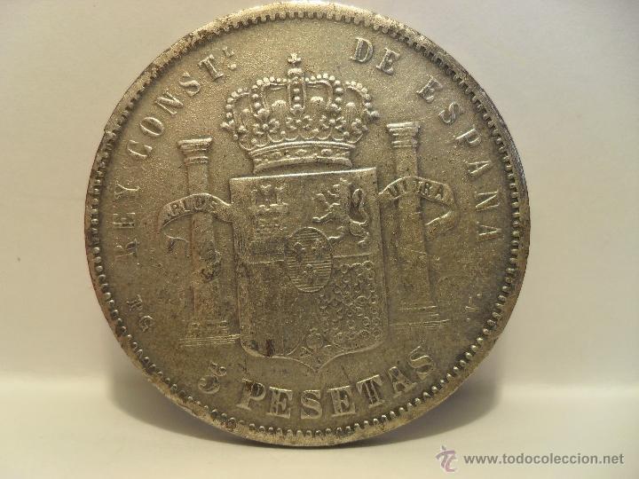 Monedas de España: DURO DE ALFONSO XIII- FALSO- 1893 - Foto 2 - 154666728