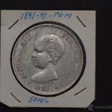 Monedas de España: MONEDA DE PLATA DE 5 PESETAS DE ALFONSO XIII- PG.M. 1891*91. Lote 45714494