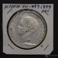 Monedas de España: MONEDA DE PLATA DE 5 PESETAS DE ALFONSO XIII- SG.V..S/C 1899*99. Lote 45714620