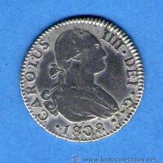 Monedas de España: CARLOS IV IIII 2 REALES DE PLATA 1808 SEVILLA CN MONEDA PLATA ESPAÑA. Lote 45841119