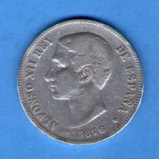 Monedas de España: ALFONSO XII 5 PESETAS PLATA 1876 MADRID DURO DE PLATA. Lote 45856816