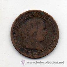 Monedas de España: ISABEL II. 2 1/2 CÉNTIMOS. AÑO 1868. SEGOVIA.. Lote 46070321