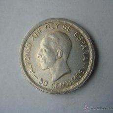 Monedas de España: ESPAÑA 1926 - 50 CÉNTIMOS DE PESETA PLATA. ALFONSO XIII. RARA. LEYENDA SOBREPUESTA EN REVERSO !!. Lote 46173535