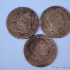 Monedas de España: LOTE DE 3 MONEDAS ANTIGUAS DE COBRE.. Lote 46240220