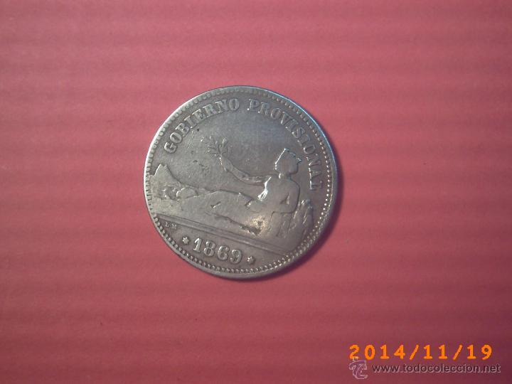 MONEDA DE UNA PESETA DEL GOBIERNO PROVISIONAL AÑO 1870 - PLATA - (Numismática - España Modernas y Contemporáneas - De Isabel II (1.834) a Alfonso XIII (1.931))