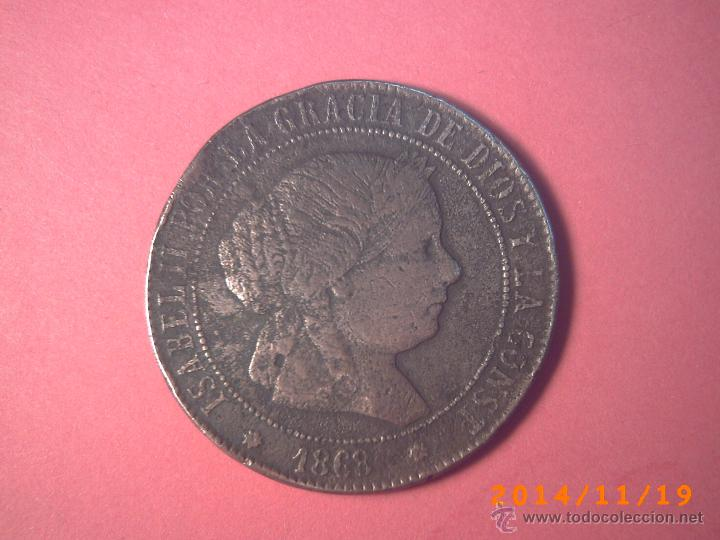 MONEDA DE 5 CENTIMOS DE ESCUDO ISABEL II - AÑO 1858 - COBRE (Numismática - España Modernas y Contemporáneas - De Isabel II (1.834) a Alfonso XIII (1.931))