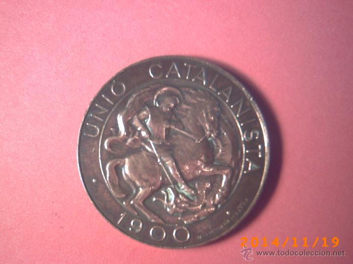 MONEDA UNIO CATALANISTA AÑO 1900 -COBRE-CATALUÑA- MONETIFORME DE 10 CTMOS. DIÁMETRO 29MM PESO 10 GR (Numismática - España Modernas y Contemporáneas - De Isabel II (1.834) a Alfonso XIII (1.931))