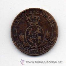 Monedas de España: ISABEL II. 2 1/2 CÉNTIMOS DE ESCUDO. AÑO 1868. JUBIA.. Lote 46344021