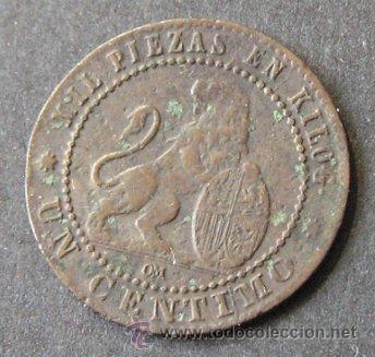 Monedas de España: GOBIERNO PROVISIONAL - 1 CÉNTIMO 1870 - Foto 2 - 46356978