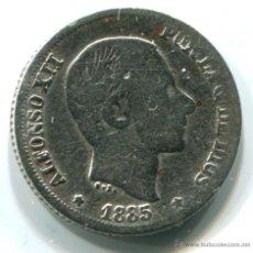 Monedas de España: 10 CÉNTIMOS DE PESO. FILIPINAS. ALFONSO XII, 1885 PLATA. Lote 46380129