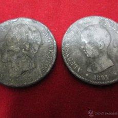 Monedas de España: 2 DUROS ALFONSINOS FALSOS DE EPOCA DE CALAMINA. Lote 46440326