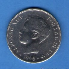 Monedas de España: ALFONSO XIII 5 PESETAS PLATA 1898 MADRID MONEDA DURO DE PLATA 23 GRAMOS. Lote 46475734