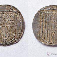 Monedas de España: REAL DE LOS REYES CATÓLICOS. SEGOVIA. PLATA. ANTERIOR A LA PRAGMÁTICA. RECORTADA. ¡¡MUY RARA!!!. Lote 46564198