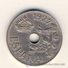 Monedas de España: 25 CÉNTIMOS.- ALFONSO XIII.- 1927.- ENSAYADOR PCS.- MADRID.- (5). Lote 46725086