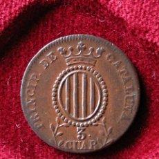 Monedas de España: ISABEL II. 1841. PRINCIPADO DE CATALUÑA. 3 CUARTOS.. Lote 46780900