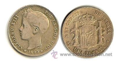 ALFONSO XIII - 1 PESETA - 1899 (Numismática - España Modernas y Contemporáneas - De Isabel II (1.834) a Alfonso XIII (1.931))