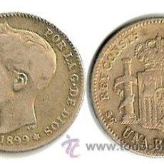 Monedas de España: ALFONSO XIII - 1 PESETA - 1899 . Lote 47664837