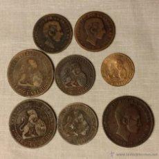 Monedas de España: 2, 5 Y 10 CENTIMOS 1870 Y 1878. Lote 47857876