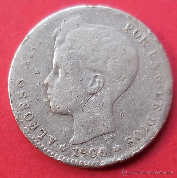 ALFONSO XIII. MONEDA DE 1 PESETA. 1900. PLATA. (Numismática - España Modernas y Contemporáneas - De Isabel II (1.834) a Alfonso XIII (1.931))