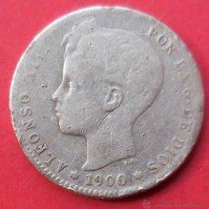 Monedas de España: ALFONSO XIII. MONEDA DE 1 PESETA. 1900. PLATA.. Lote 47889264
