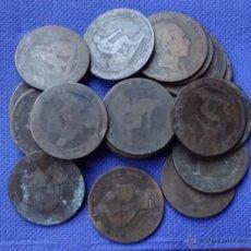 Monedas de España: MONEDAS DE 10 CÉNTIMOS DE COBRE. Lote 47926690