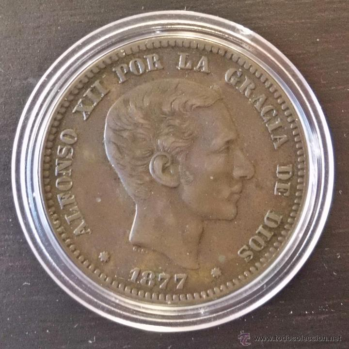 10 CÉNTIMOS 1877 ALFONSO XII. PRECIOSA! (Numismática - España Modernas y Contemporáneas - De Isabel II (1.834) a Alfonso XIII (1.931))