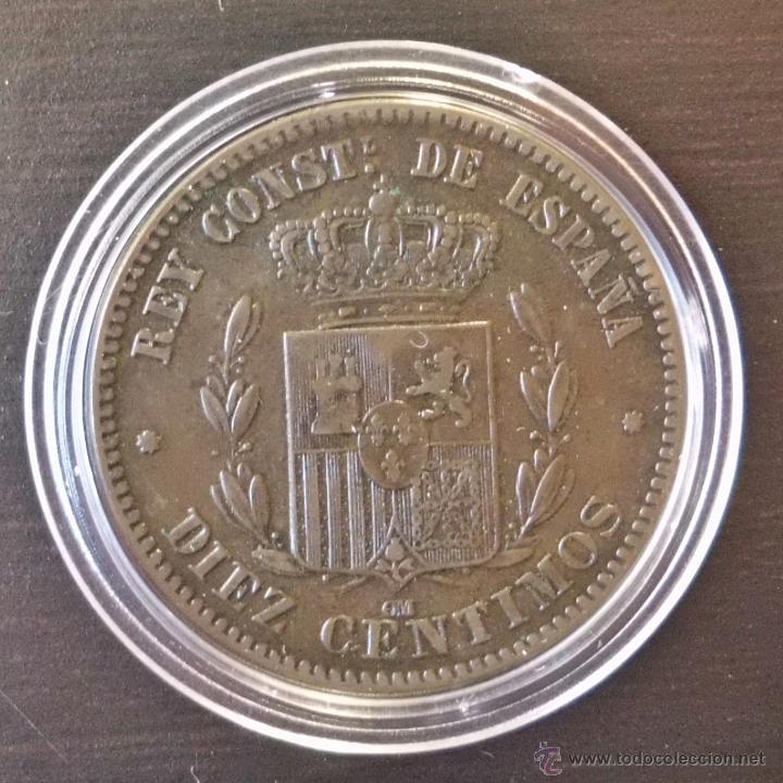 Monedas de España: 10 CÉNTIMOS 1877 ALFONSO XII. PRECIOSA! - Foto 2 - 47933153