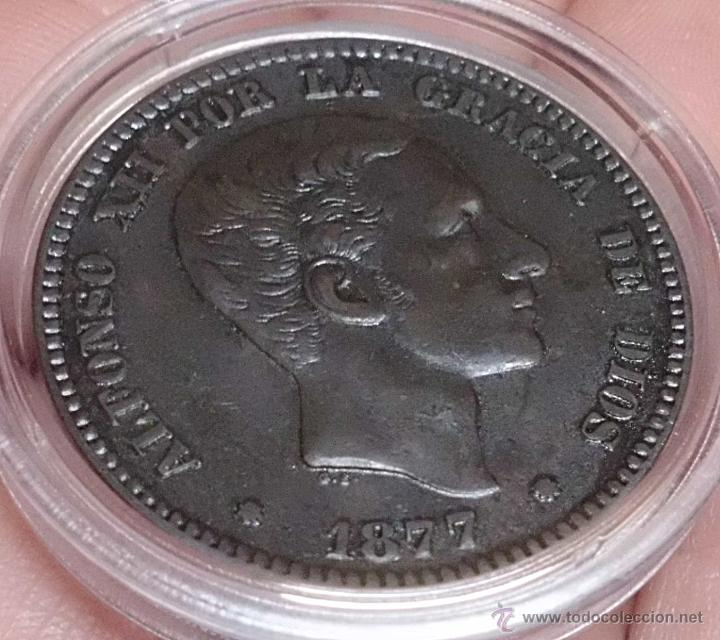 Monedas de España: 10 CÉNTIMOS 1877 ALFONSO XII. PRECIOSA! - Foto 3 - 47933153