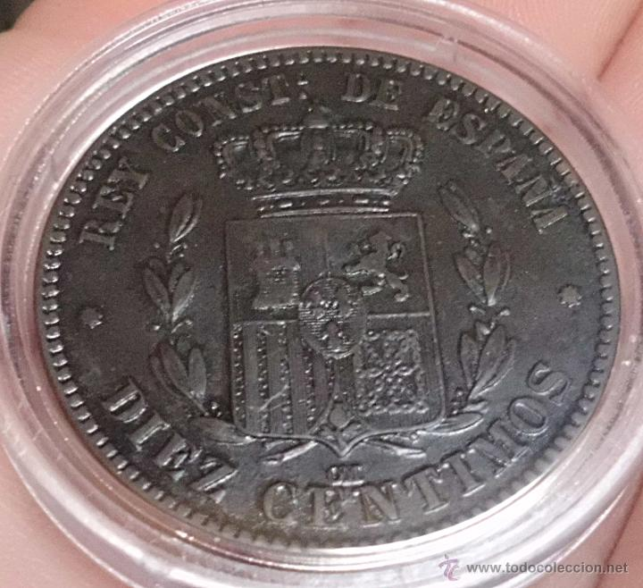 Monedas de España: 10 CÉNTIMOS 1877 ALFONSO XII. PRECIOSA! - Foto 4 - 47933153
