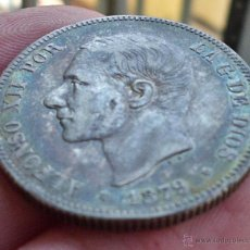 Monedas de España: 2 PESETAS 1879. ALFONSO XII. PRECIOSA PÁTINA IRISADA!. Lote 47933545