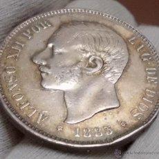 Monedas de España: DURO 5 PESETAS 1885 *18*87 MSM. ALFONSO XII. Lote 47936894