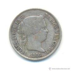 Monedas de España: 20- 40 CÉNTIMOS DE ESCUDO PLATA 1866 MADRID ISABEL II. Lote 47955474
