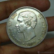 Monedas de España: 5 PESETAS. PLATA. ALFONSO XII. 1876 - DEM *18 *76. Lote 48105371