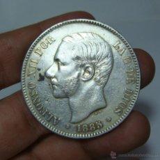Monedas de España: 5 PESETAS. PLATA. ALFONSO XII. 1885 - MSM - *18 *87. Lote 48105576