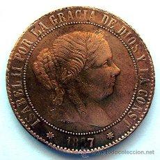 Monedas de España: ISABEL II . 5 CENTIMOS DE ESCUDO . 1867 BARCELONA. Lote 48264502