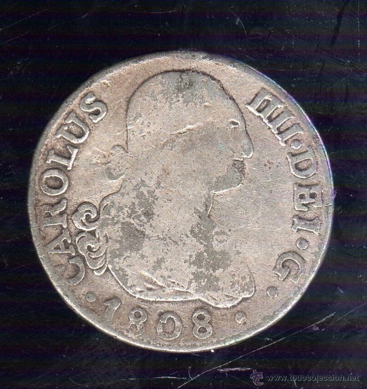 CARLOS IIII. 2 REALES. 1808. MADRID A.J (Numismática - España Modernas y Contemporáneas - De Reyes Católicos (1.474) a Fernando VII (1.833))