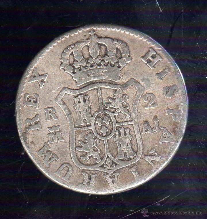 Monedas de España: CARLOS IIII. 2 REALES. 1808. MADRID A.J - Foto 2 - 288719038