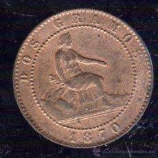 Monedas de España: GOBIERNO PROVISIONAL. 2 CENTIMOS. 1870. OM S/C.. Lote 48310431