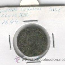 Monedas de España: MONEDA CATALANA GUERRA DELS SEGADORS LLUIS XIV ANY 1644 AÑO SISE SEISENO BARCELONA VARIANTE BUSTO . Lote 48500199
