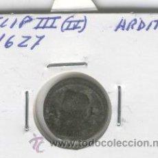 Monedas de España: MONEDA CATALANA BARCELONA ANY 1627 ARDIT AÑO ARDITE FELIP II III FELIPE MUY BUEN RELIEVE VER FOTOS . Lote 48500607