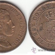Monedas de España: ALFONSO XIII: 1 CENTIMO 1906. Lote 48536944