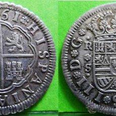 Monedas de España: CARLOS III 2 REALES1761A.C.-1435 SEVILLA -JV- EBC- AG. Lote 48755782