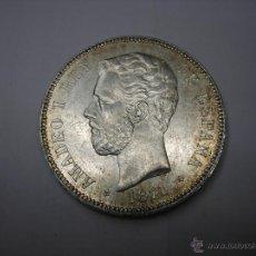 Monedas de España: 5 PESETAS DE PLATA DE 1871 18-71. REY AMADEO I DE SABOYA. Lote 48904907