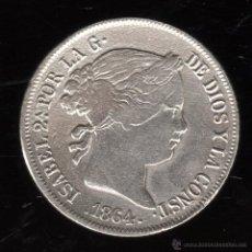 Monedas de España: ISABEL II. 4 REALES. 1864. SEVILLA. Lote 48989742