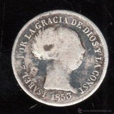 Monedas de España: ISABEL II. 2 REALES. 1853. SEVILLA. Lote 48990449