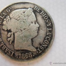Monedas de España: MONEDA DE PLATA DE ISABEL II - AÑO 1868. Lote 49015094