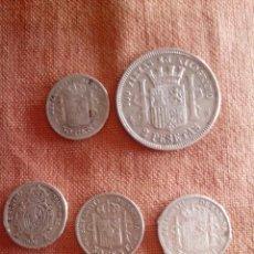 Monedas de España: LOTE DE 6 MONEDAS DE PLATA. Lote 49074542