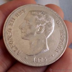 Monedas de España: DURO 5 PESETAS 1875 *18*75. ALFONSO XII. PRECIOSA!!. Lote 113548086
